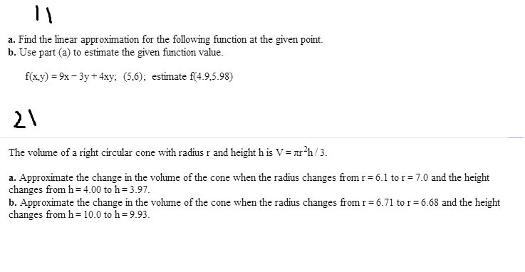 how to find the linear approximation of a function