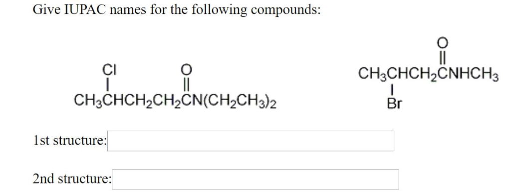 how to find the iupac name of a structure