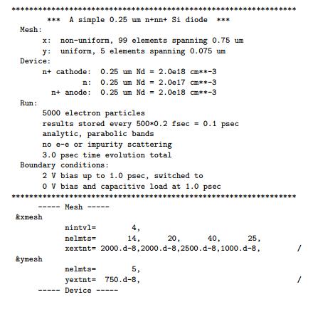 a simple 025 um nnn si diode mesh x non