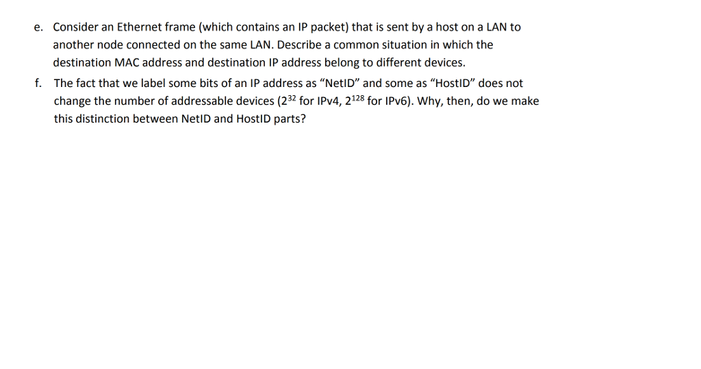 Solved: Consider An Ethernet Frame (which Contains An IP P ...