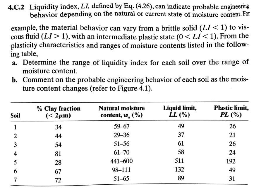Solved: 4 C 2 Liquidity Index, LI, Defined By Eq  (4 26