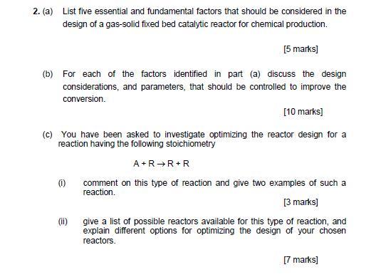 2 A List Five Essential And Fundamental Factors Chegg