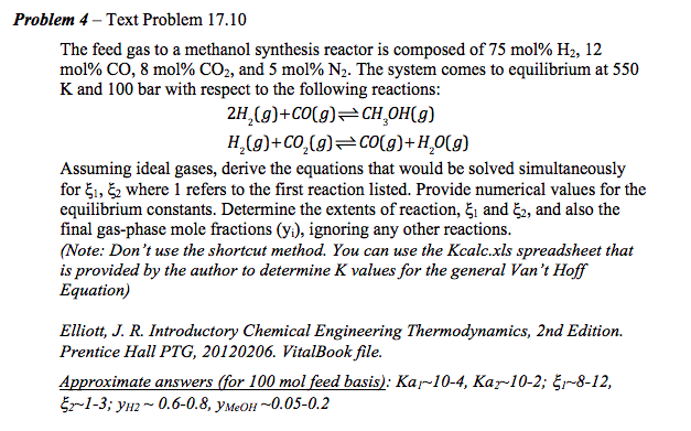 Solved: Problem 4 - Text Problem 17 10 The Feed Gas To A M