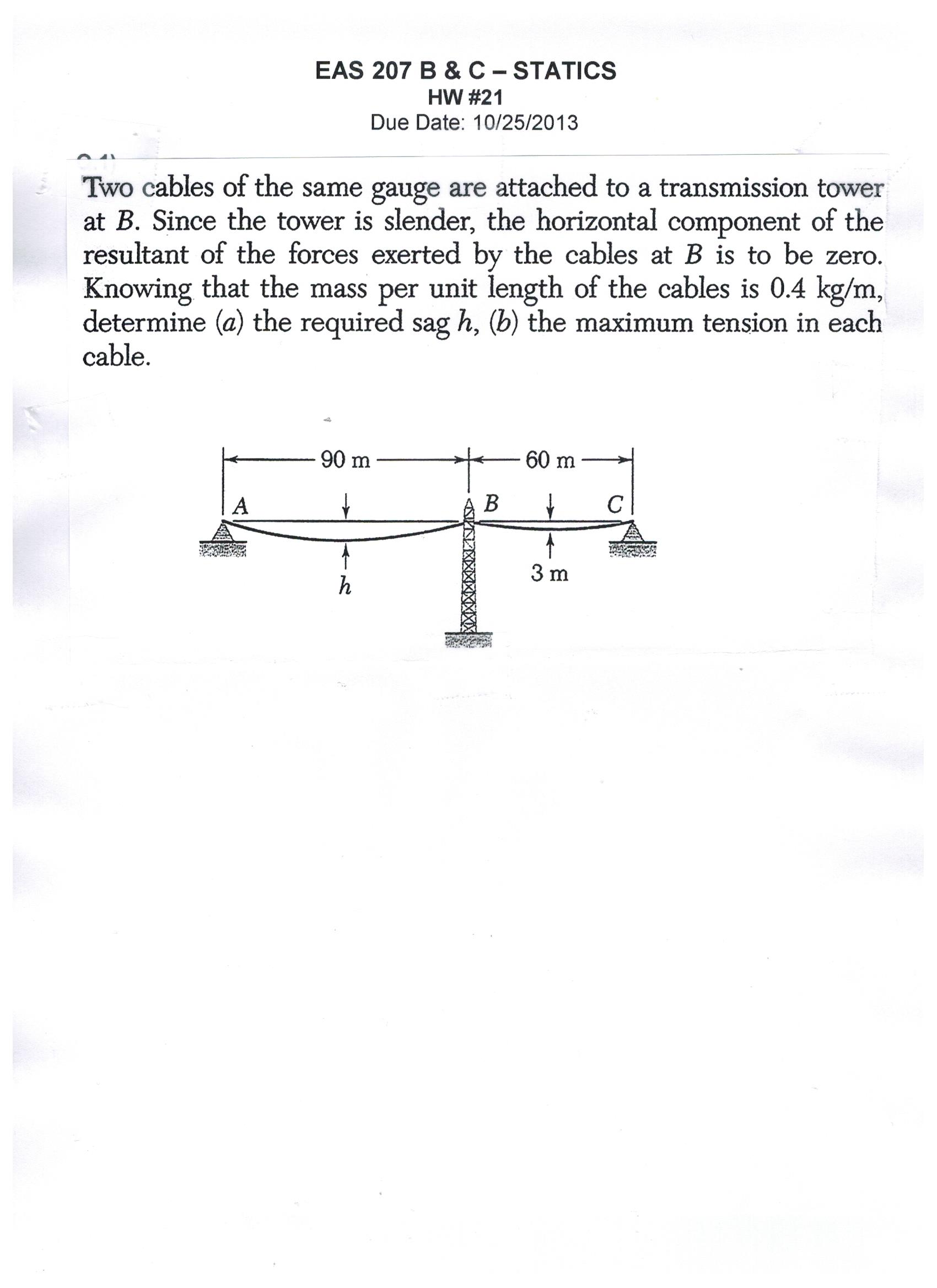 Solved: Two Cables Of The Same Gauge Are Attached To A Tra ...