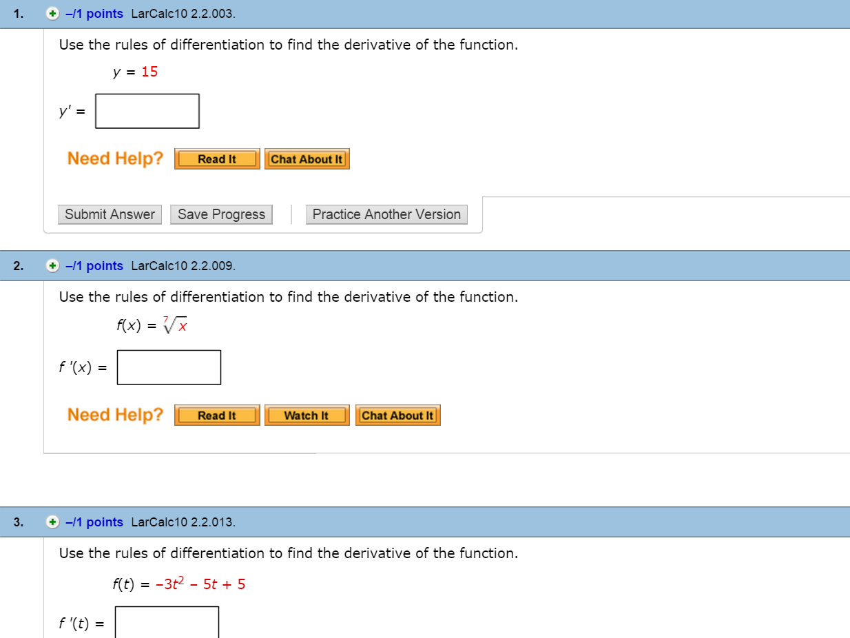 F X H F X H Calculus: Solved: Use The Rules Of Differentiation To Find The Deriv