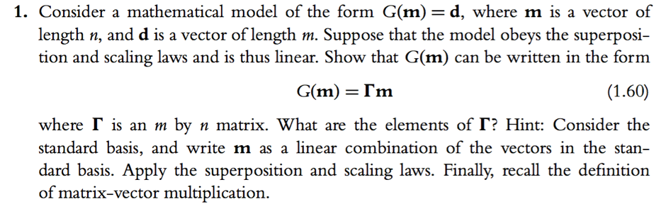 Solved Consider A Mathematical Model Of The Form Gm D