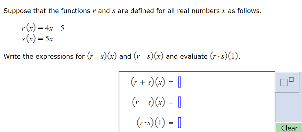 Solved Suppose That The Functions R And S Are Defined For