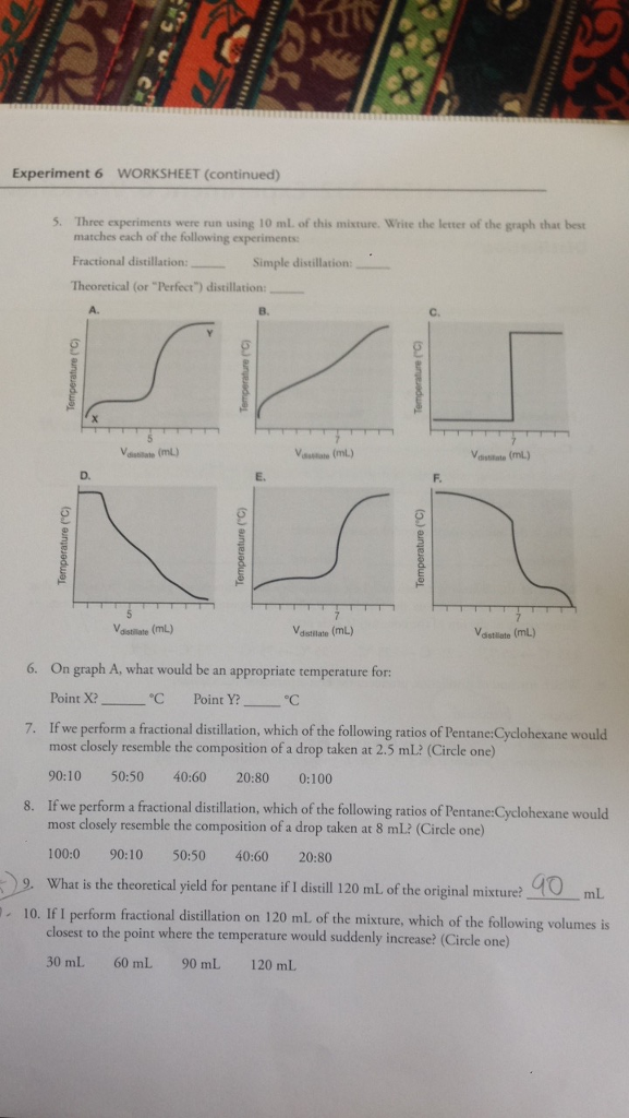 solved help with this worksheet please for these question  question help with this worksheet please for these questions imagine that  we have a mixture that has a vo