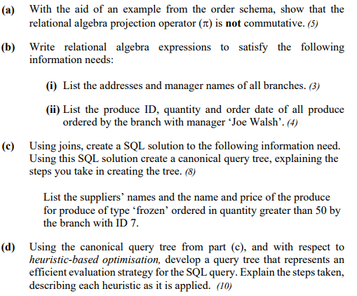 With The Aid Of An Example From The Order Schema