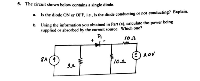 The circuit shown below contains a single diode Is