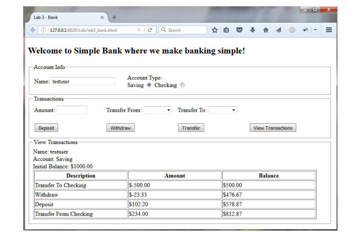 Solved: Create A Banking Program With Html And Javascript