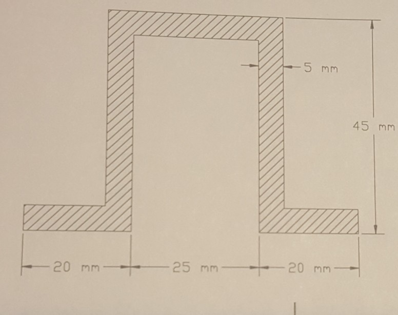 Solved: Calculate The Centroid And Moment Of Area Of The T