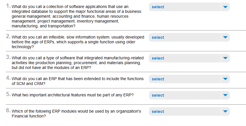 Solved: 1  1 SCM/EDI/CRM/DBMS/ERP 2 Era I Information Syst