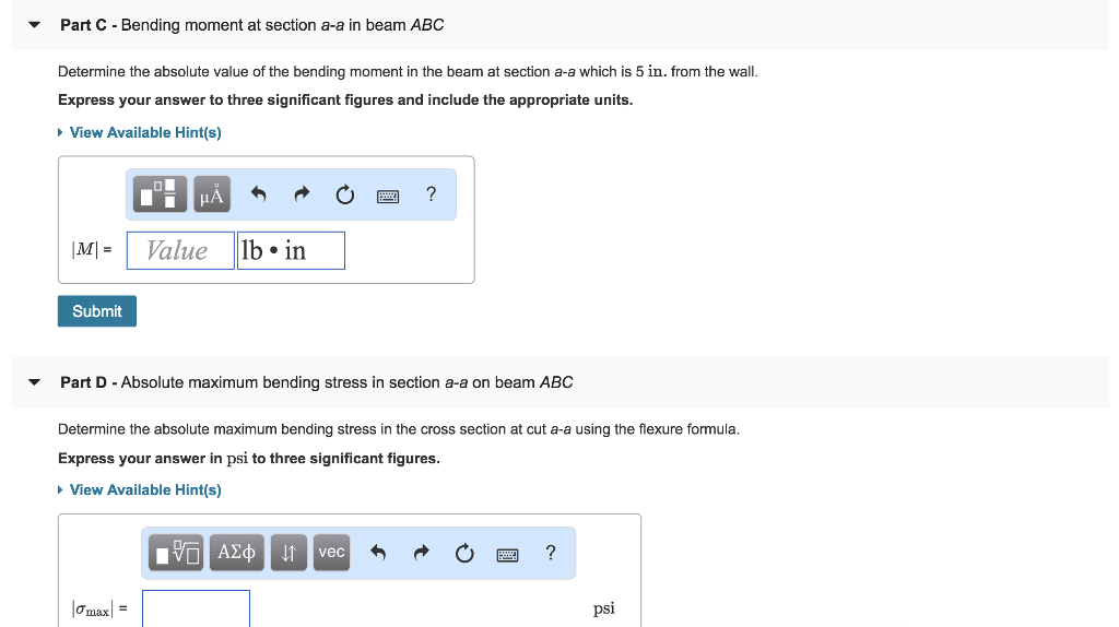 Solved: The Flexure Formula Learning Goal To Determine An