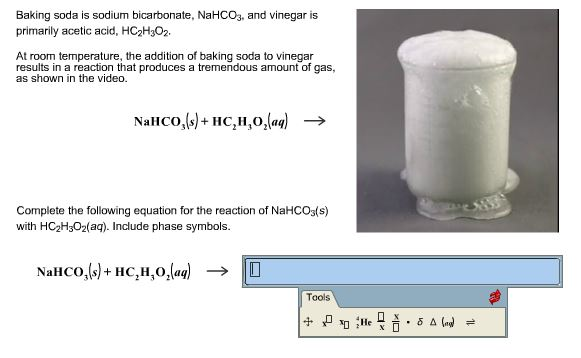 Solved Baking Soda Is Sodium Bicarbonate Nahco3 And Vin