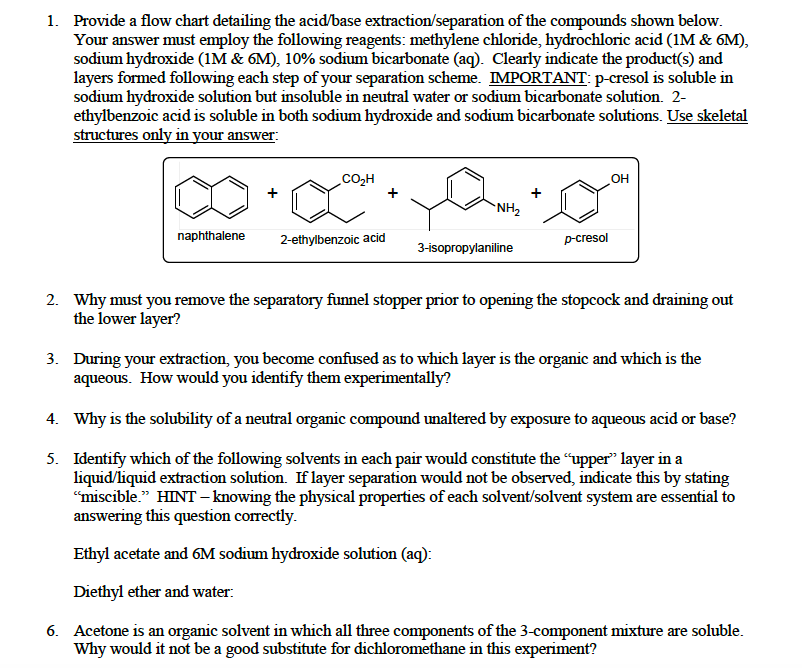 separation of acidic and neutral substances Acid-base extraction is typically used to separate organic compounds from each other based on their acid-base properties the method rests on the assumption that most organic compounds are more soluble in organic solvents than they are in water.