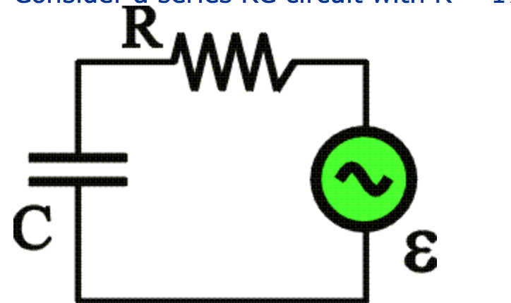 solved  consider a series rc circuit with r   179   and an