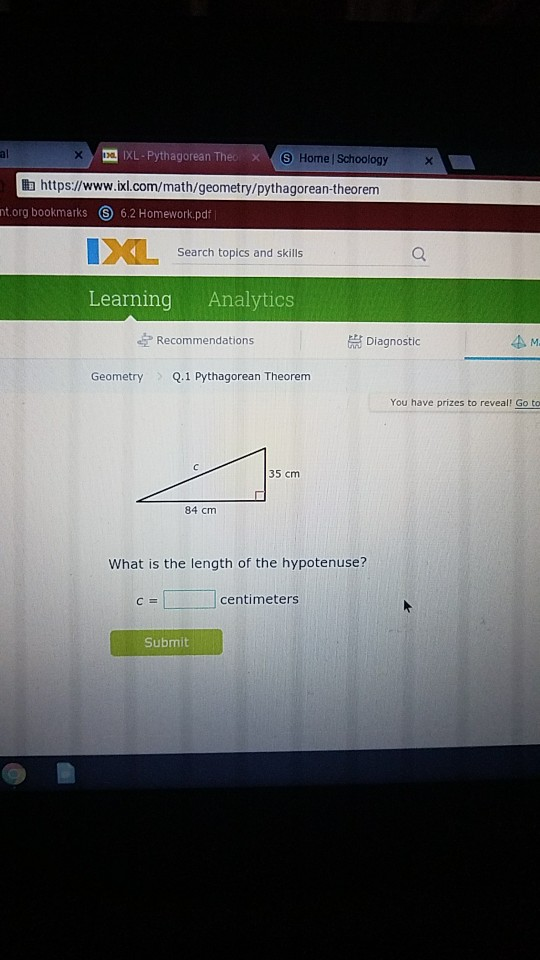 Solved: 1 XL-Pythagorean The S Home | Schoology 由https ...