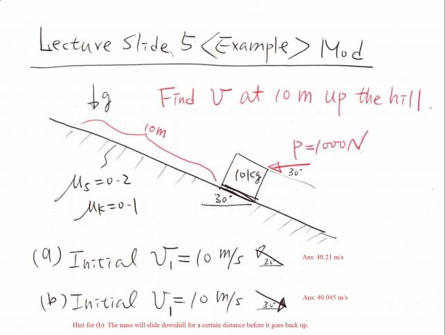 solved lecture slide 5 example mod find v at 10 m up th