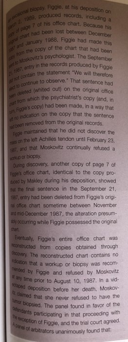 FALSIFYING RECORDS Citation: Moskovitz V  Mount Si    | Chegg com