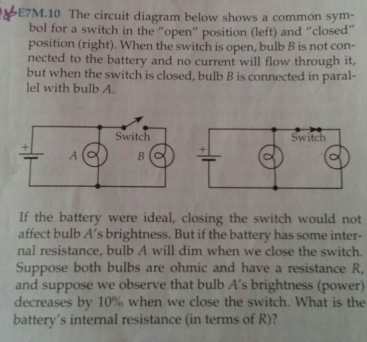 schematic a battery left connecting to a lightbulb right thesolved the circuit diagram below shows a common symbol fo schematic a battery left connecting to a lightbulb right the