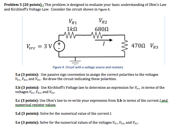 voltage ohms law and kirchhoffs rules