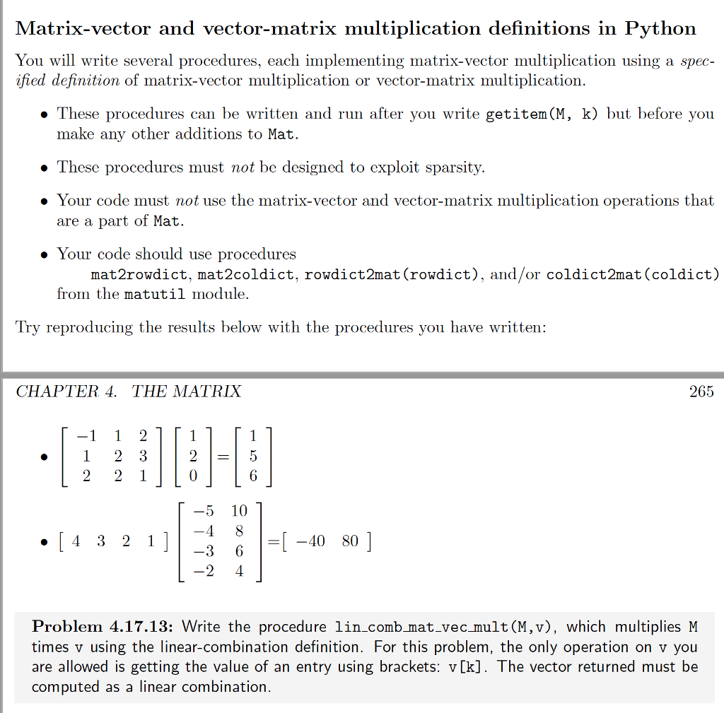 Solve The Following Problems : For The Matrix Reso