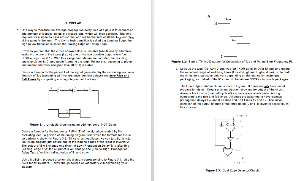 solved 3 prelab 1 one way to measure the average propag rh chegg com