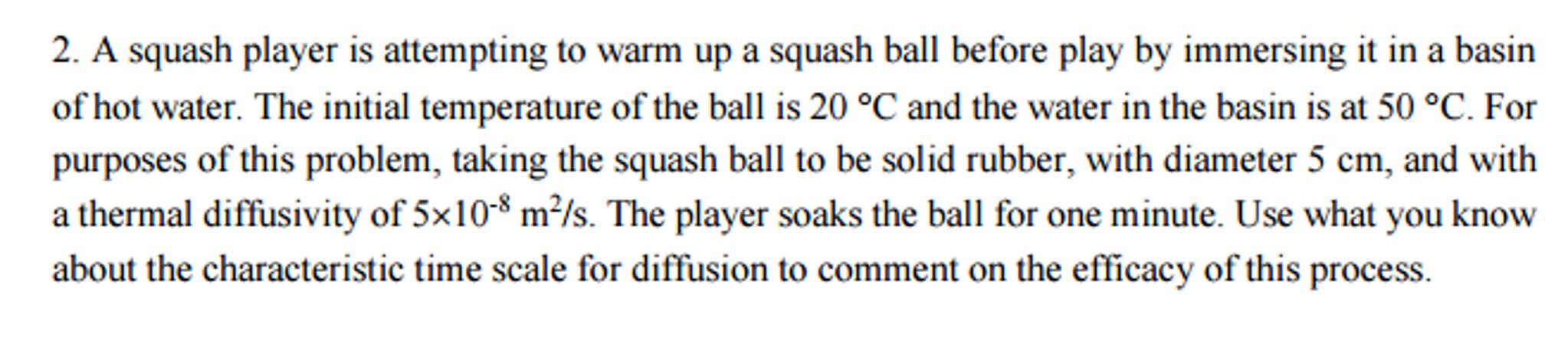 warm up squash ball