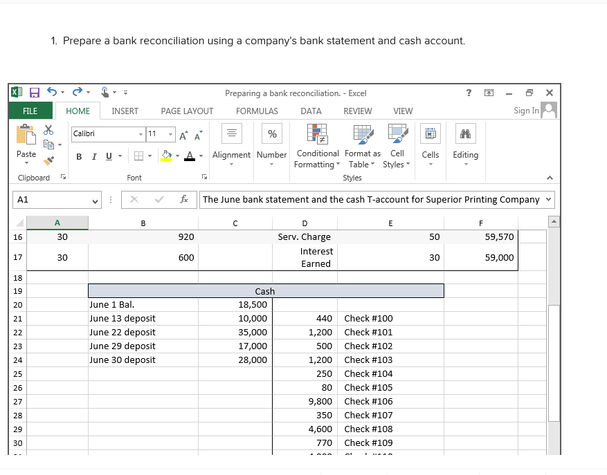 bank reconciliation statement problems and answers