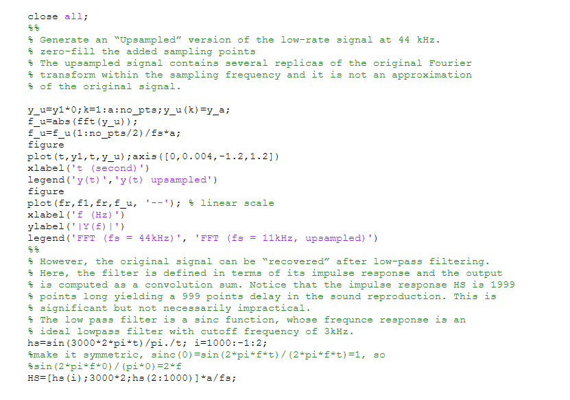 solved in the matlab code provided in section 7 of the la rh chegg com MATLAB DSP MATLAB Icon