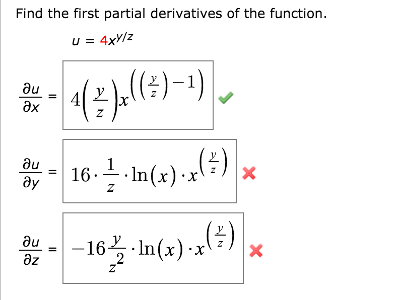 how to find the derivative of a function with ln