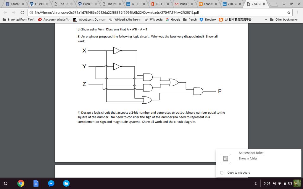 Solved Show Using Venn Diagrams That A Ab A B An E