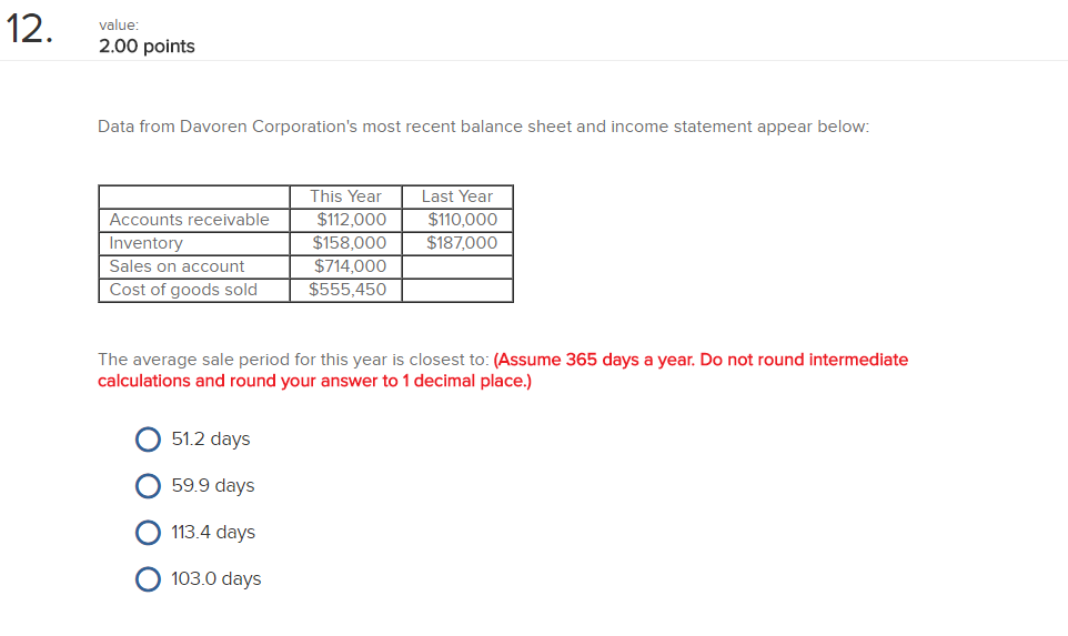 condensed balance sheet and income statement data for kersenbrock corporation appear below