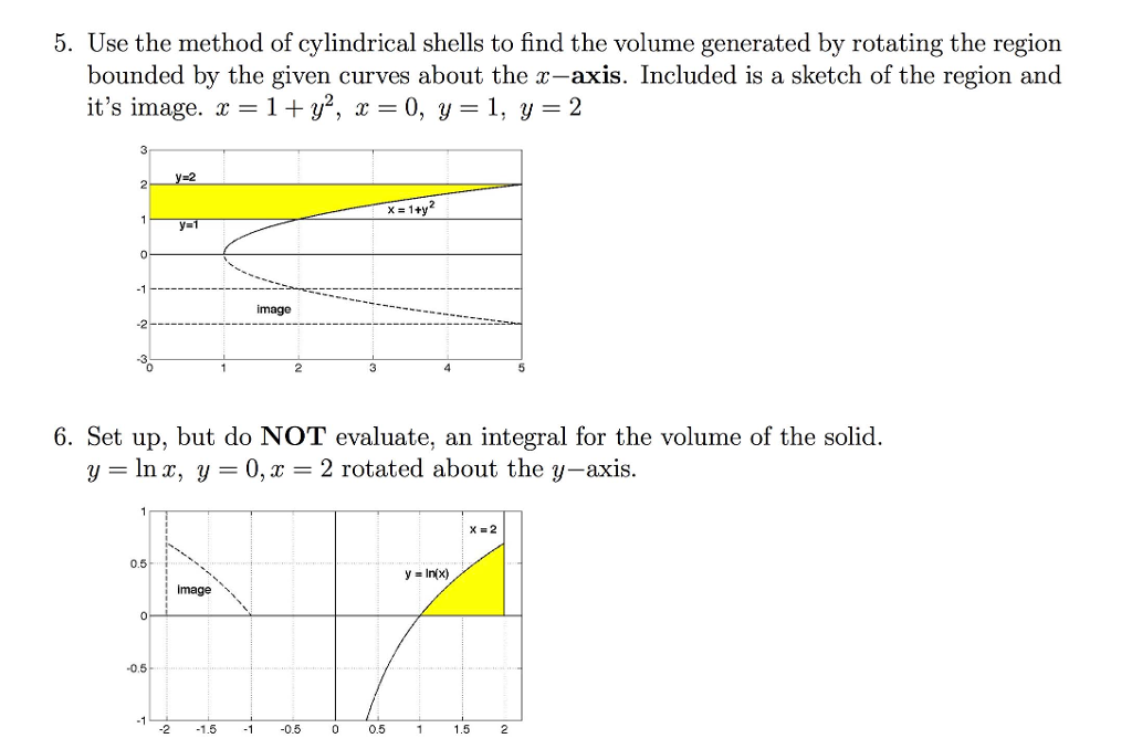 Calculus archive february 26 2017 chegg use the method of cylindrical shells to find the volume generated by rotating the ccuart Image collections