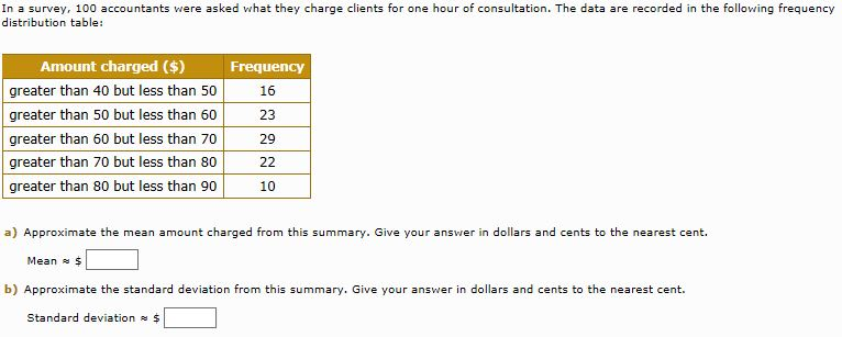 Solved: In A Survey, 100 Accountants Were Asked What They