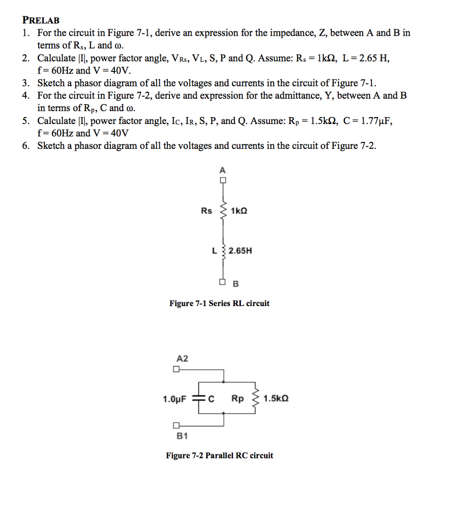 Solved: For The Circuit In Figure 7-1, Derive An Expressio ...