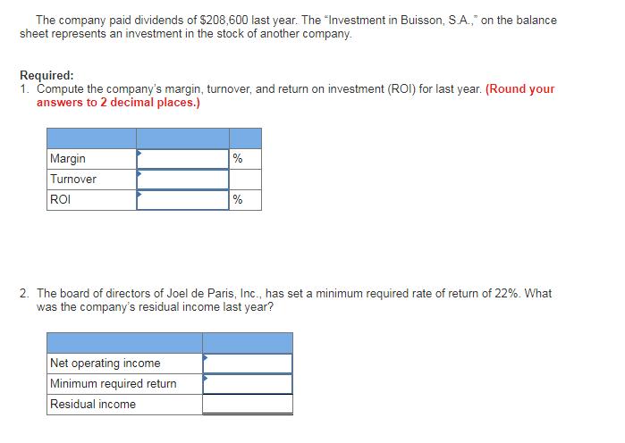 show transcribed image text joel de paris inc balance sheet beginning balance ending balance assets cash accounts receivable inventory plant and equipment
