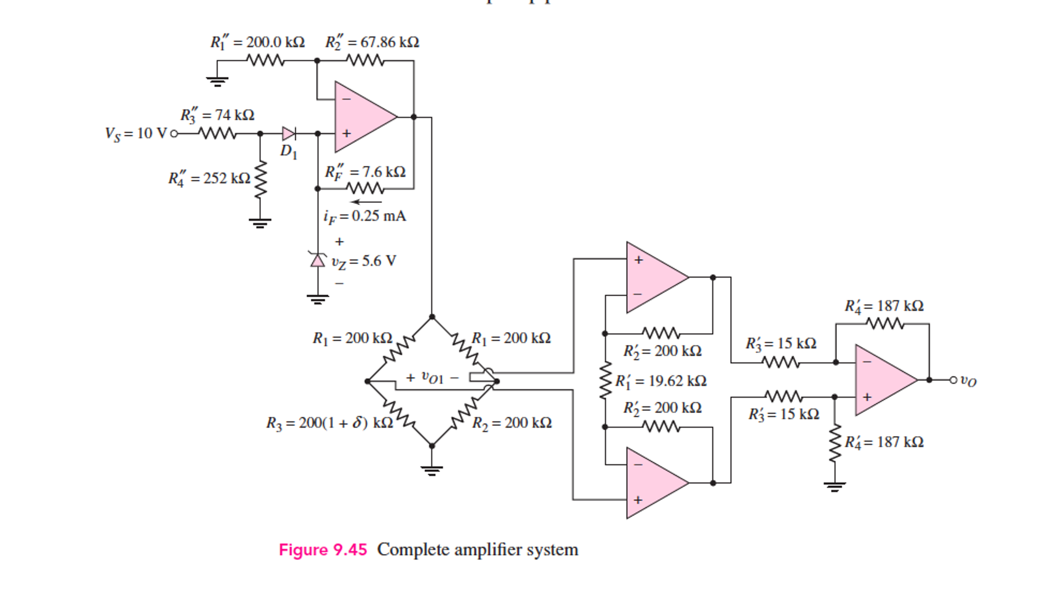 Design An Instrumentation Amplifier For A Transduc Circuit Diagram Images Attached 10 V 2000 Kq R 6786 74 Q Rf 76 Ks2 252 If 0