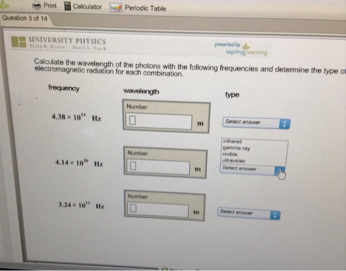 Solved Print Calculator D Periodic Table Question 3 Of 1