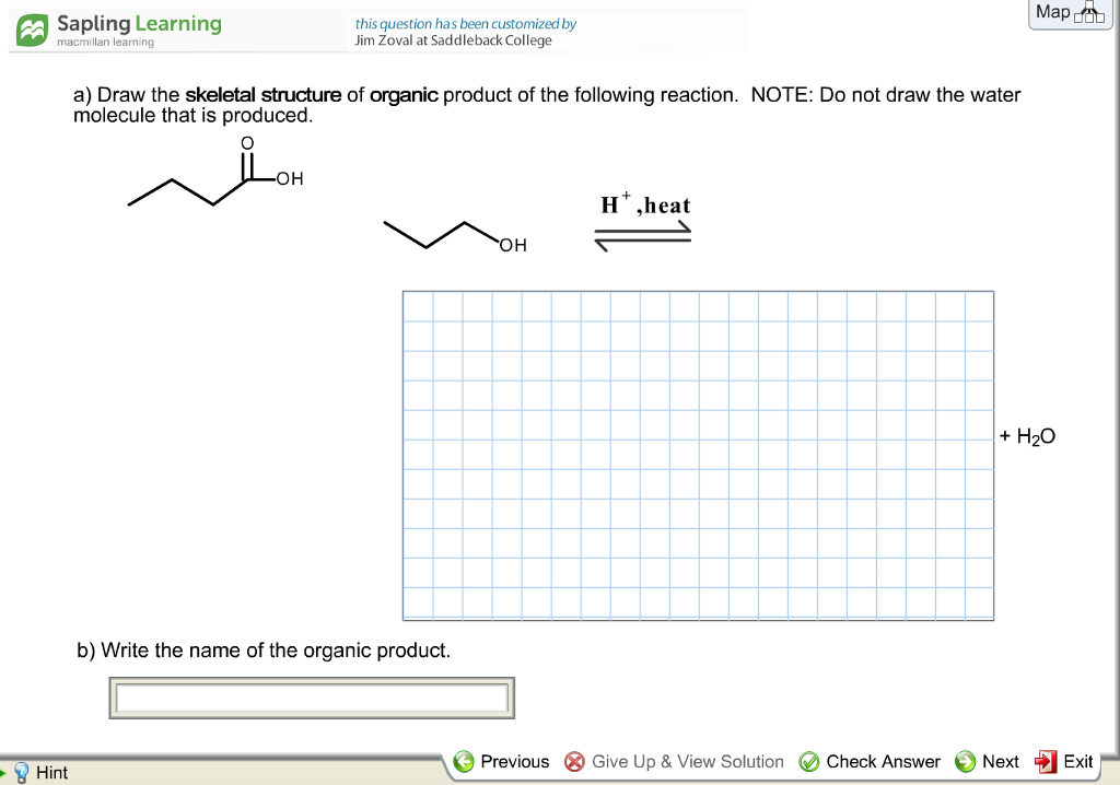 Chemistry archive april 05 2018 chegg sapling learning this question has been customized by jim zoval at saddleback college map a macmillan fandeluxe Images