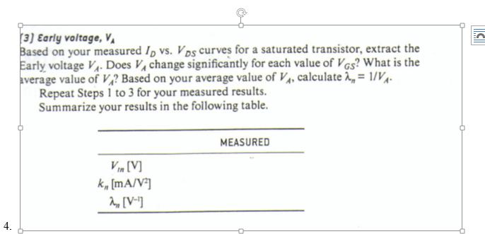 Solved: [2] MOSFET Transconductance Parameter, K, Based On