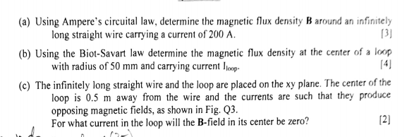 Solved: (a) Using Ampere's Circuital Law, Determine The Ma