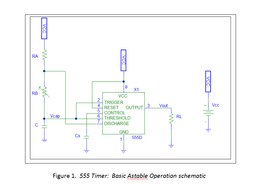 Solved: For The 555 Timer Circuit Given In Figure 1, Find