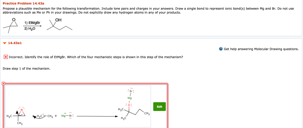 Practice Problem 1443a Propose A Plausible Mechanism For The Following Transformation Include Lone Pairs