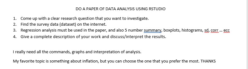 regression analysis research paper topics