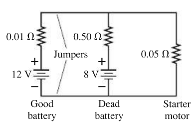 solved a good car battery is a real battery with an emf o rh chegg com