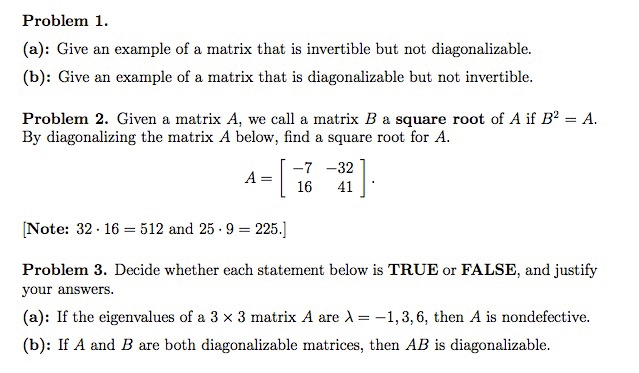 Solved Give An Example Of A Matrix That Is Invertible But Chegg Com Algebra properties of real numbers square roots and irrational numbers. matrix that is invertible but