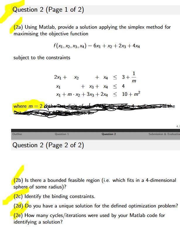 a) Using Matlab, Provide A Solution Applying The     | Chegg com