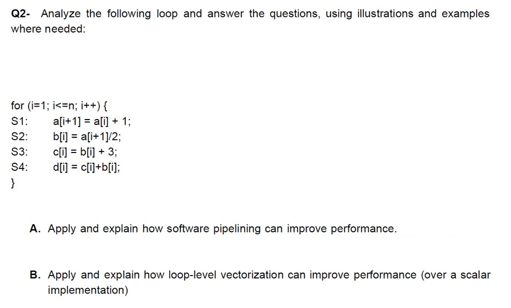 q2 analyze the following loop and answer the questions using illustrations and examples where